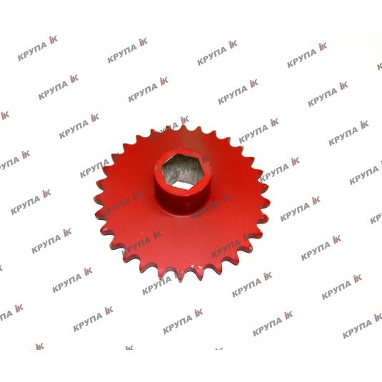 Звездочка 30Т привода камнеулавлювача с вн. шестигранником