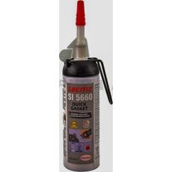 Герметик силіконовий сірий  водостійкий, хімостойкій  в балоні Quick Gasket 200мл.