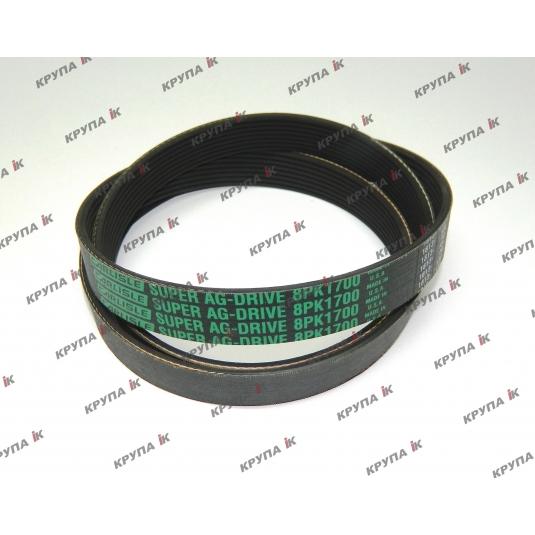 Ремень привода помпы тр-ра 8940-7250 (8PK-1700мм.)
